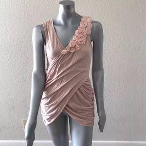 Deletta Woman Dress Casual Layered Stretch Sz L